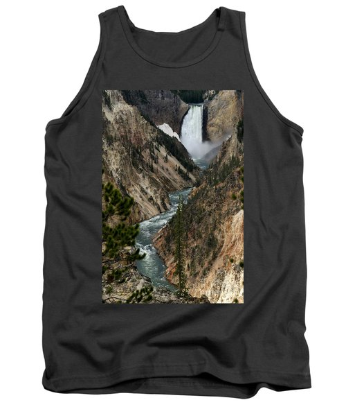 Tank Top featuring the photograph Lower Falls And Yellowstone River by Living Color Photography Lorraine Lynch