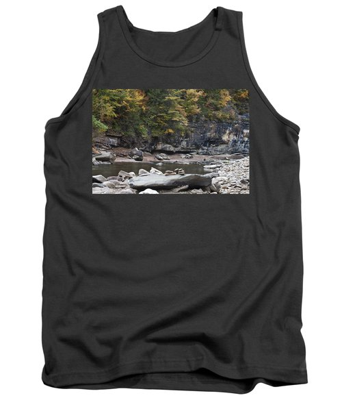 Loyalsock Creek In The Fall Tank Top