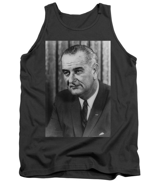 Tank Top featuring the photograph Lyndon B Johnson by International  Images
