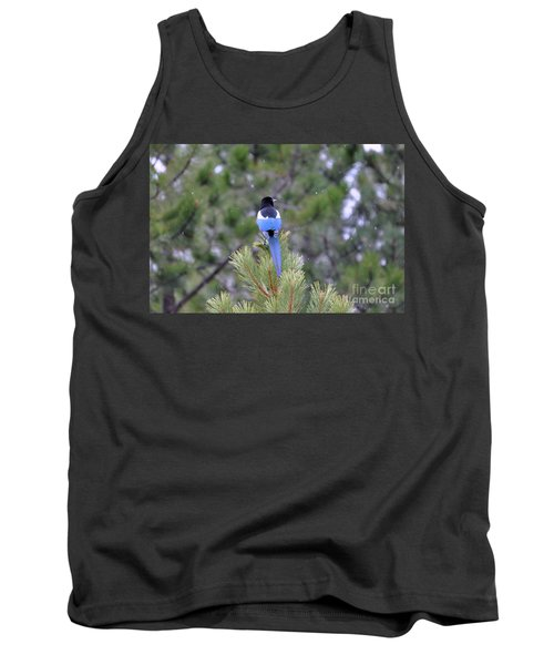 Magpie In Snow Tank Top