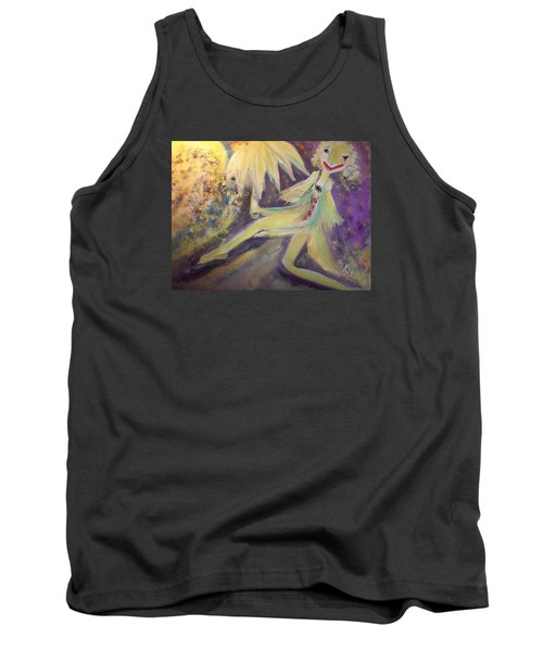 Man In The Moon Tank Top by Judith Desrosiers