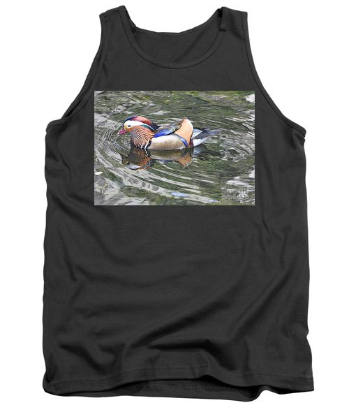 Tank Top featuring the photograph Mandarin Duck  by Lydia Holly