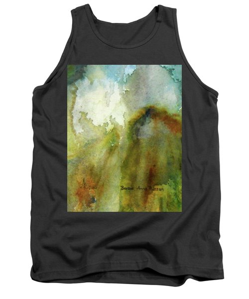 Tank Top featuring the painting Melting Mountain by Anna Ruzsan