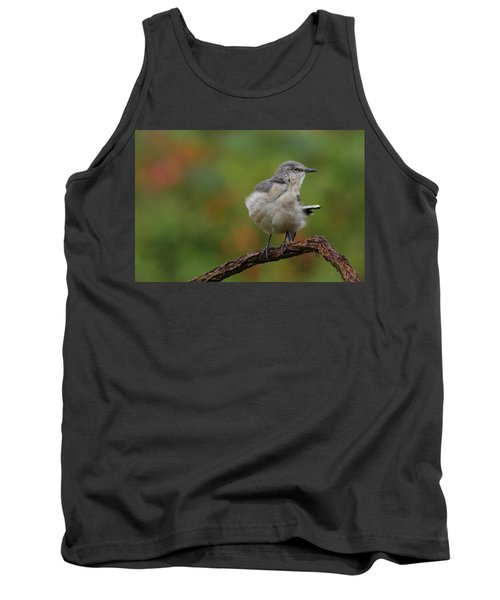 Mocking Bird Perched In The Wind Tank Top