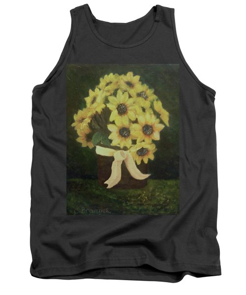 Tank Top featuring the painting Mom's Bouquet by Christy Saunders Church