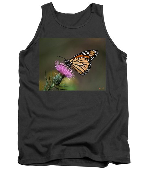 Tank Top featuring the photograph Monarch Butterfly On Thistle 13a by Gerry Gantt