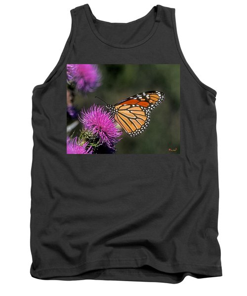 Tank Top featuring the photograph Monarch On Thistle 13f by Gerry Gantt
