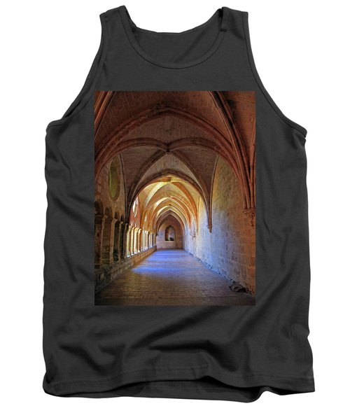 Tank Top featuring the photograph Monastery Passageway by Dave Mills