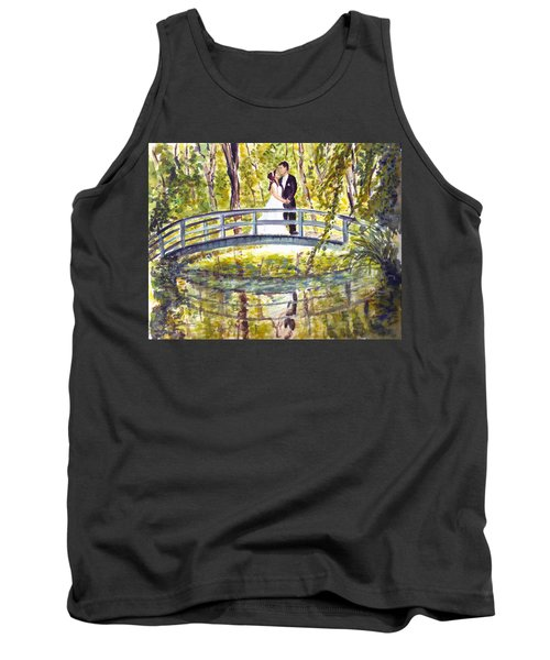 Tank Top featuring the painting Monet Wedding by Clara Sue Beym