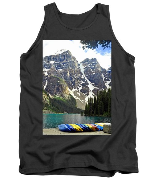 Tank Top featuring the photograph Moraine Lake by Lisa Phillips