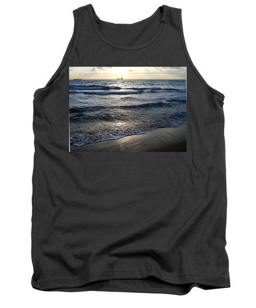 Tank Top featuring the photograph Morning Surf by Clara Sue Beym
