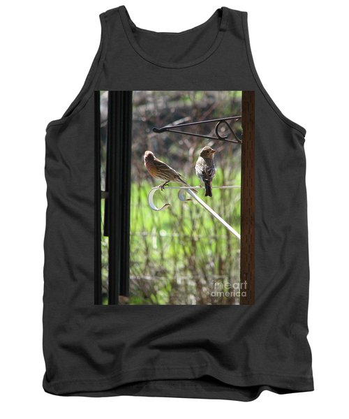 Tank Top featuring the photograph Morning Visitors by Rory Sagner