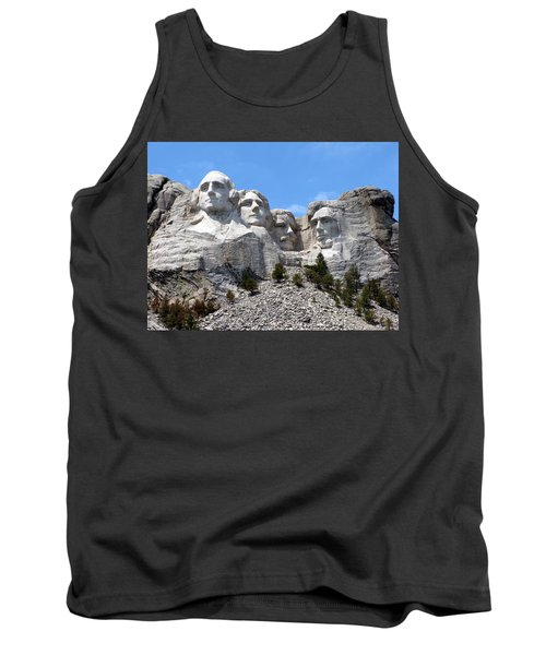 Mount Rushmore Usa Tank Top