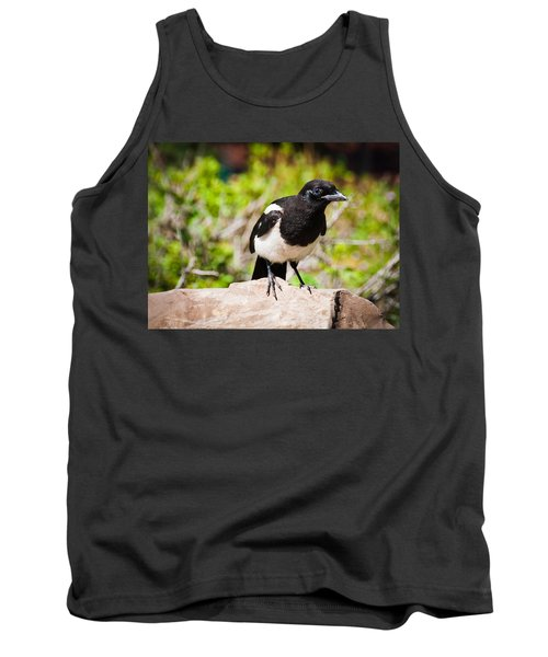 Tank Top featuring the photograph Mr. Magpie by Cheryl Baxter