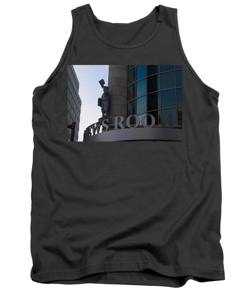 Tank Top featuring the photograph News Room by Stephanie Nuttall