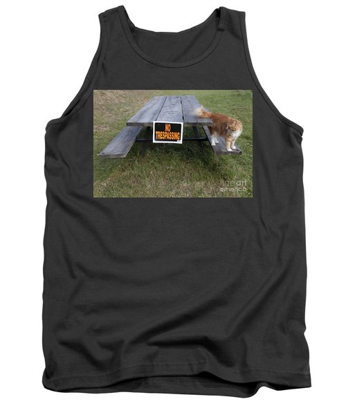 No Trespassing Tank Top by Jeannette Hunt