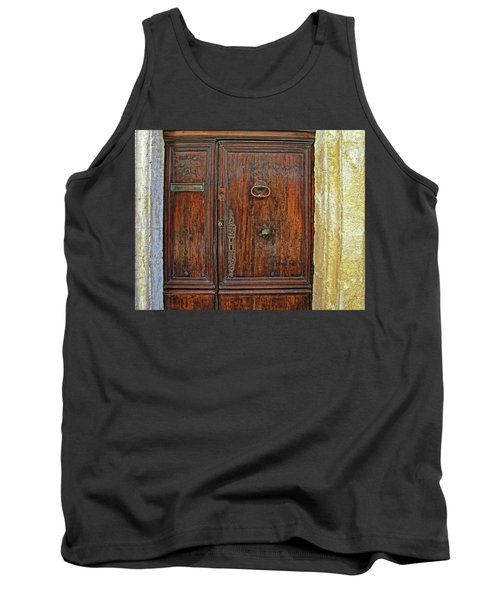 Tank Top featuring the photograph Old Door Study Provence France by Dave Mills