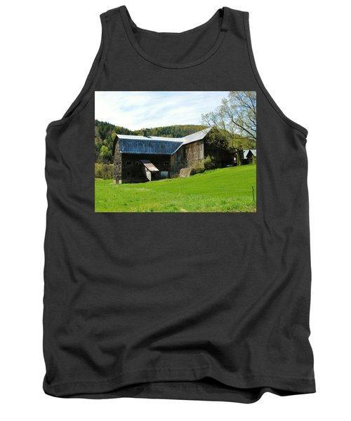 Tank Top featuring the photograph Old Vermont Barn by Sherman Perry