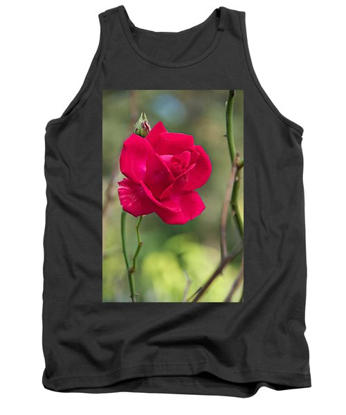 Tank Top featuring the photograph One Rose by Joseph Yarbrough