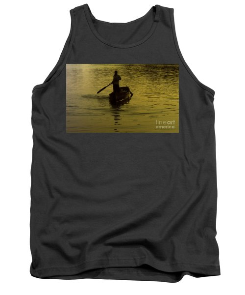 Tank Top featuring the photograph Paddle Boy by Lydia Holly