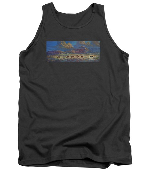 Tank Top featuring the painting Painted Desert Painted Horses by Rob Corsetti