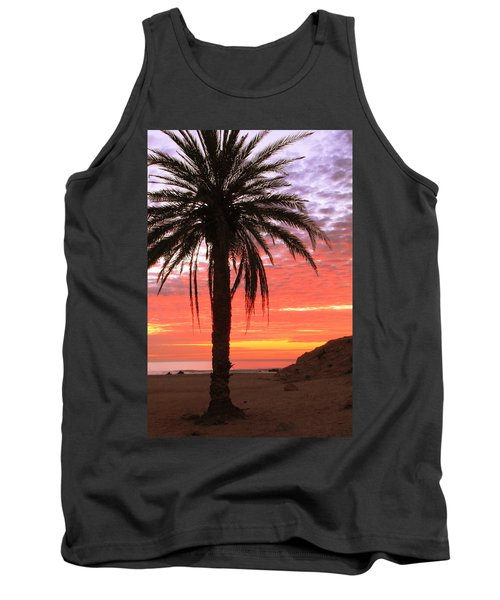 Palm Tree And Dawn Sky Tank Top by Roupen  Baker