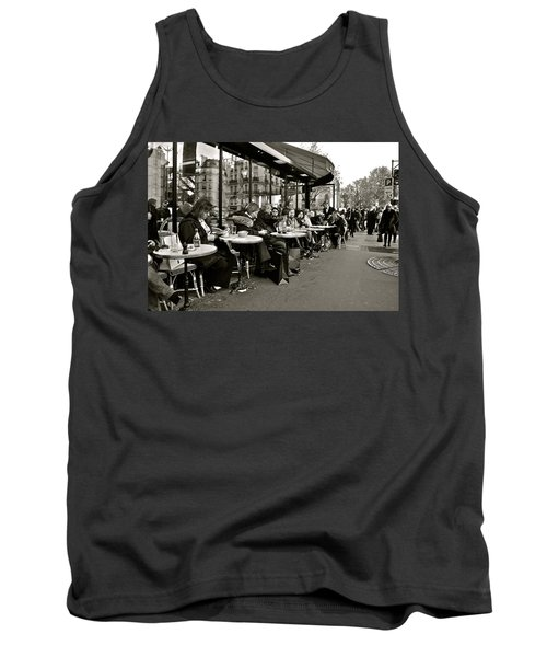 Tank Top featuring the photograph Paris Cafe by Eric Tressler