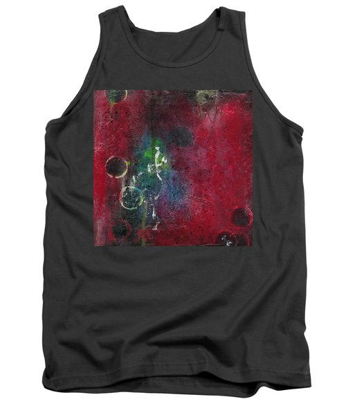 Tank Top featuring the painting Passion 3 by Nicole Nadeau