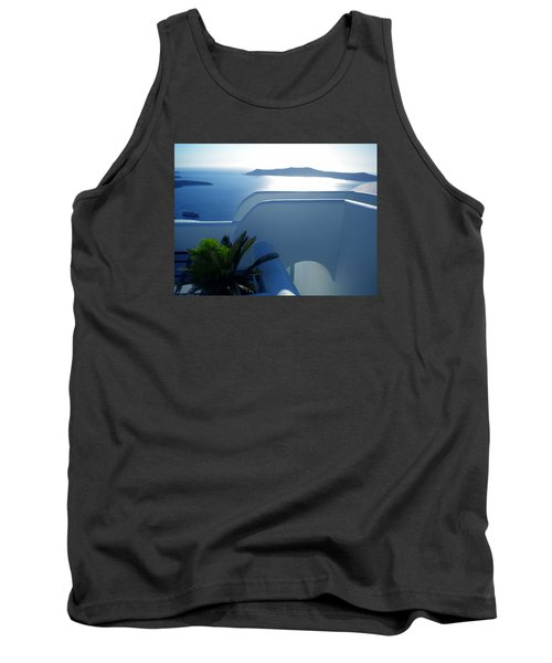 Peaceful Sunset Santorini Tank Top