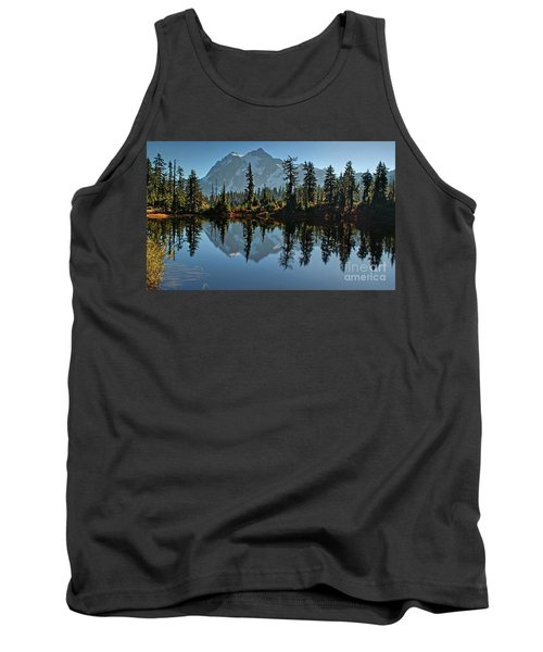 Tank Top featuring the photograph Picture Lake - Heather Meadows Landscape In Autumn Art Prints by Valerie Garner