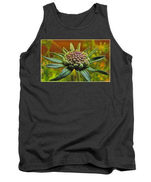 Tank Top featuring the photograph Pinchshin Bud by Debbie Portwood