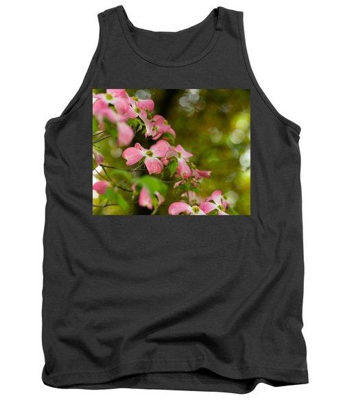Pink Dogwood Blooms Tank Top