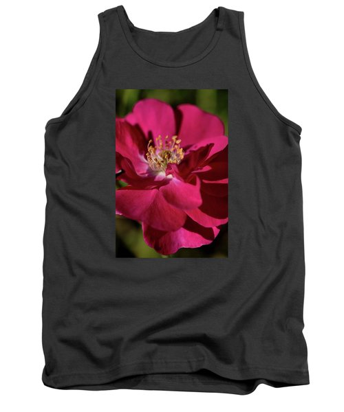 Tank Top featuring the photograph Pink Of Rose by Joy Watson
