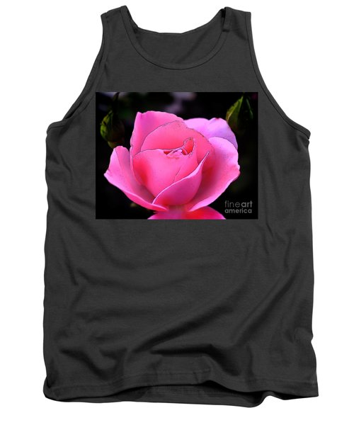 Pink Rose Day Tank Top by Clayton Bruster