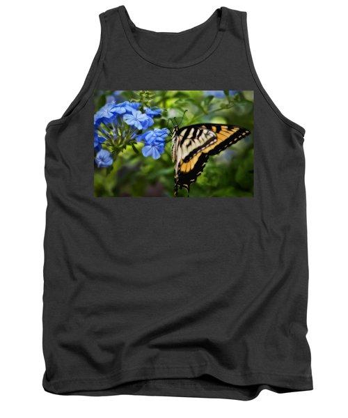 Plumbago And Swallowtail Tank Top