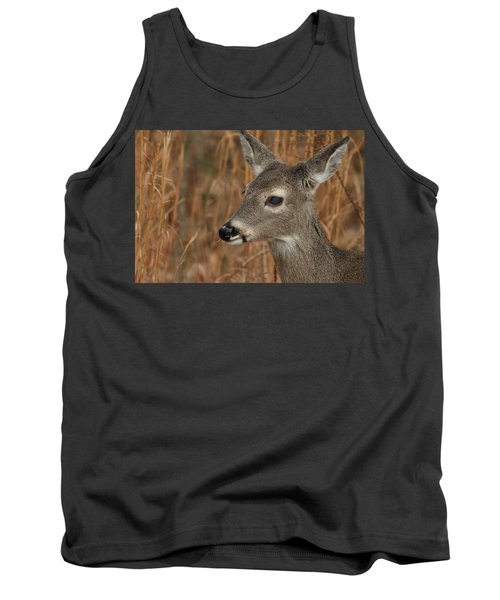 Portrait Of  Browsing Deer Tank Top
