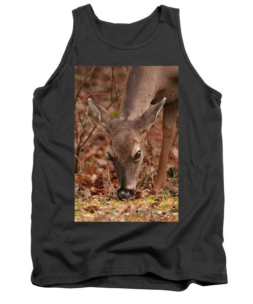 Portrait Of  Browsing Deer Two Tank Top