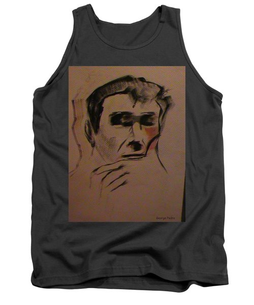 Tank Top featuring the painting Portrait Of Frank Frazetta by George Pedro