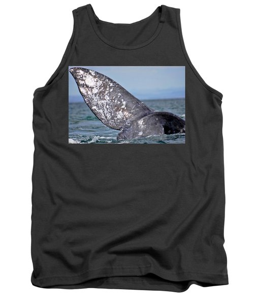 Tank Top featuring the photograph Powerful Fluke by Don Schwartz