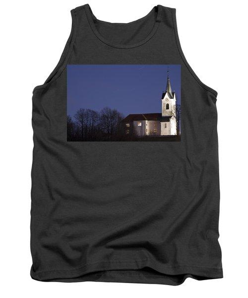 Prezganje Church At Dusk Tank Top