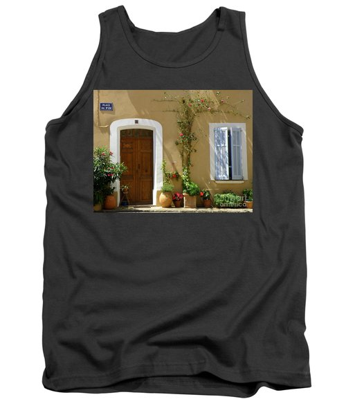 Tank Top featuring the photograph Provence Door 3 by Lainie Wrightson