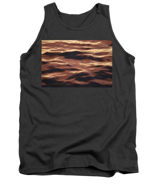 Purple Abstract Water Tank Top