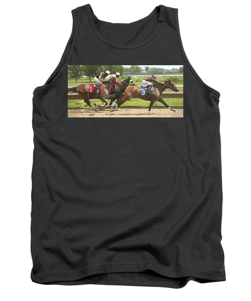 Tank Top featuring the photograph Racetrack Views by Alice Gipson