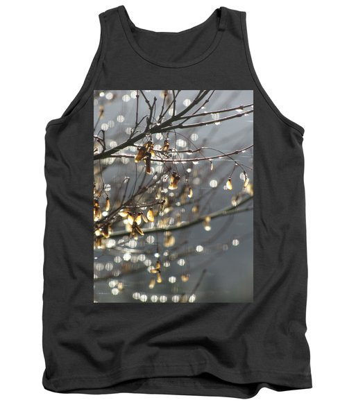 Raindrops And Leaves Tank Top