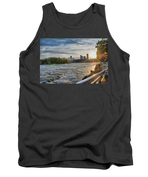 Tank Top featuring the photograph Rapids Sunset by Michael Frank Jr