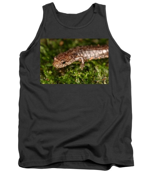 Red-backed Salamander Tank Top by Ted Kinsman