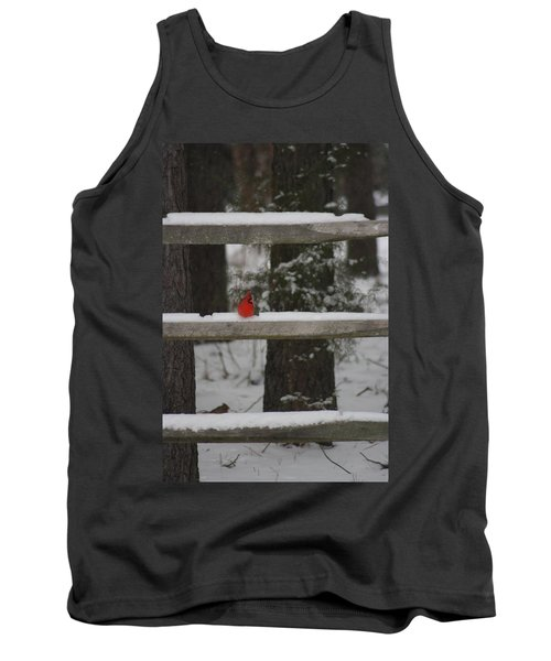 Tank Top featuring the photograph Red Bird by Stacy C Bottoms