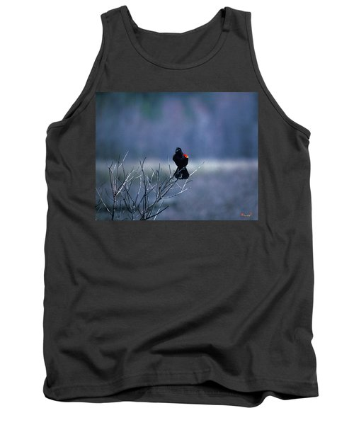 Tank Top featuring the photograph Red-wings Morning Call 10o by Gerry Gantt