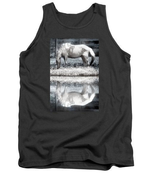 Tank Top featuring the digital art Reflecting Dreams by Mary Almond