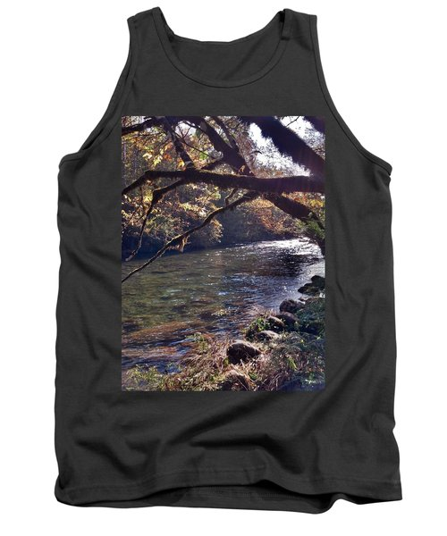 Tank Top featuring the photograph Rivee View by Janice Spivey